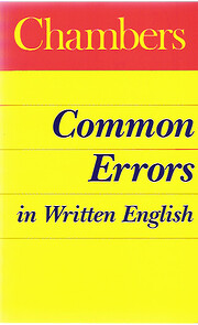 Chambers Common Errors in Written English de…