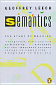 Semantics : the study of meaning de Geoffrey…