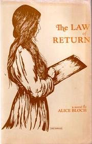 Law Of Return – tekijä: Alice Bloch
