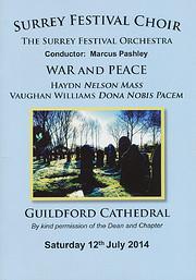 Surrey Festival Choir Concert Programme -…