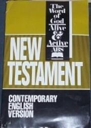 New Testament (Contemporary English Version)…