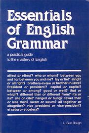 Essentials of English Grammar av L. Sue…