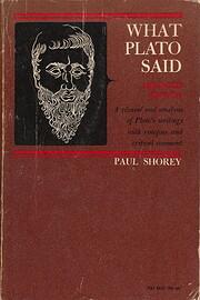 What Plato Said de Paul Shorey