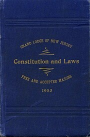 Digest of 1903 - Grand Lodge of N.J.…