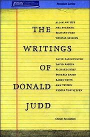 The Writings of Donald Judd av Donald Judd