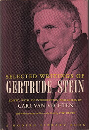 Selected writings of Gertrude Stein por…