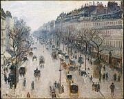 The boulevard Montmartre on a winter morning…