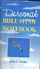 Personal Bible Study Notebook: Volume One 1…