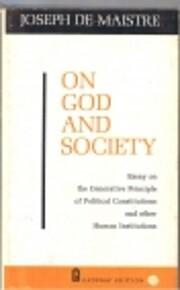 On God and Society – tekijä: Joseph De…