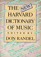 The Harvard Dictionary of Music by Don…