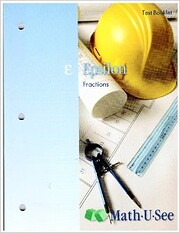 Epsilon: Fractions Test Booklet (Math U See)…
