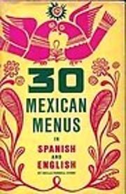30 Mexican Menus in Spanish & English de…