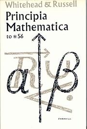 Principia mathematica to *56 av Alfred North…