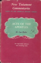 A Commentary on Acts of the Apostles by H.…