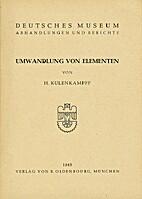 Umwandlung von Elementen. by Helmuth.…
