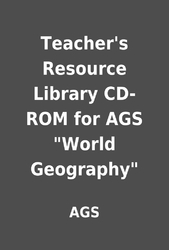 Teacher's Resource Library CD-ROM for AGS