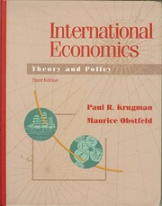International Economics: Theory and Policy…
