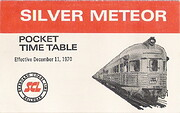 Silver Meteor Pocket Time Table 1970