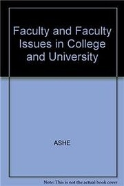 Faculty and Faculty Issues in Colleges and…