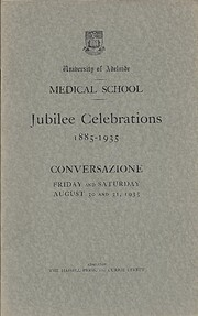 Medical school: jubilee celebrations 1885 -…