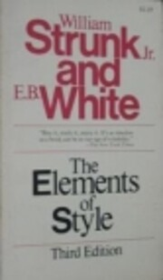 The Elements of Style (Second Edition) af…