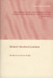Western Shoshoni Grammar (Occasional Papers…
