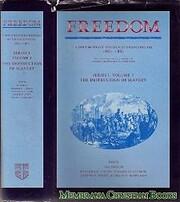Freedom: Volume 1, Series 1: The Destruction…
