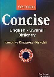 A Concise English - Swahili Dictionary de R.…