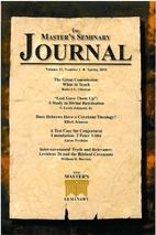 The Master's Seminary Journal Volume 21,…