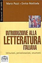 Introduzione alla letteratura italiana.…