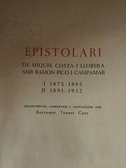 Epistolari de Miquel Costa i Llobera amb…