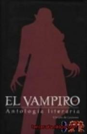 El vampiro antología literaria de…