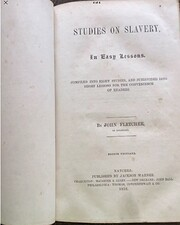 Studies on Slavery por John fletcher