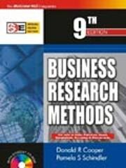Business research methods. 9th edition de…