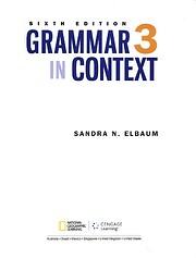 Grammar In Context 3 Teacher's Edition…