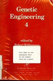 Genetic engineering 4 [Monograph] af Robert…