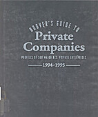 Hoover's Guide to Private Companies,…