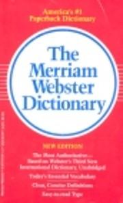 The Merriam-Webster dictionary por Inc…