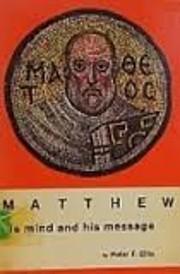 Matthew: his mind and his message de Peter…