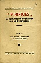 Woordjes by Edward Poppe