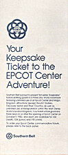 Your Keepsake Ticket to the EPCOT Center…