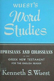 Ephesians and Colossians in the Greek New…