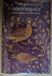 Ornithology: From Aristotle to the Present…